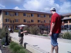 Dad finds a Bocce court in Napa Valley and proceeds to give the boys from Pittsburgh a few tips.