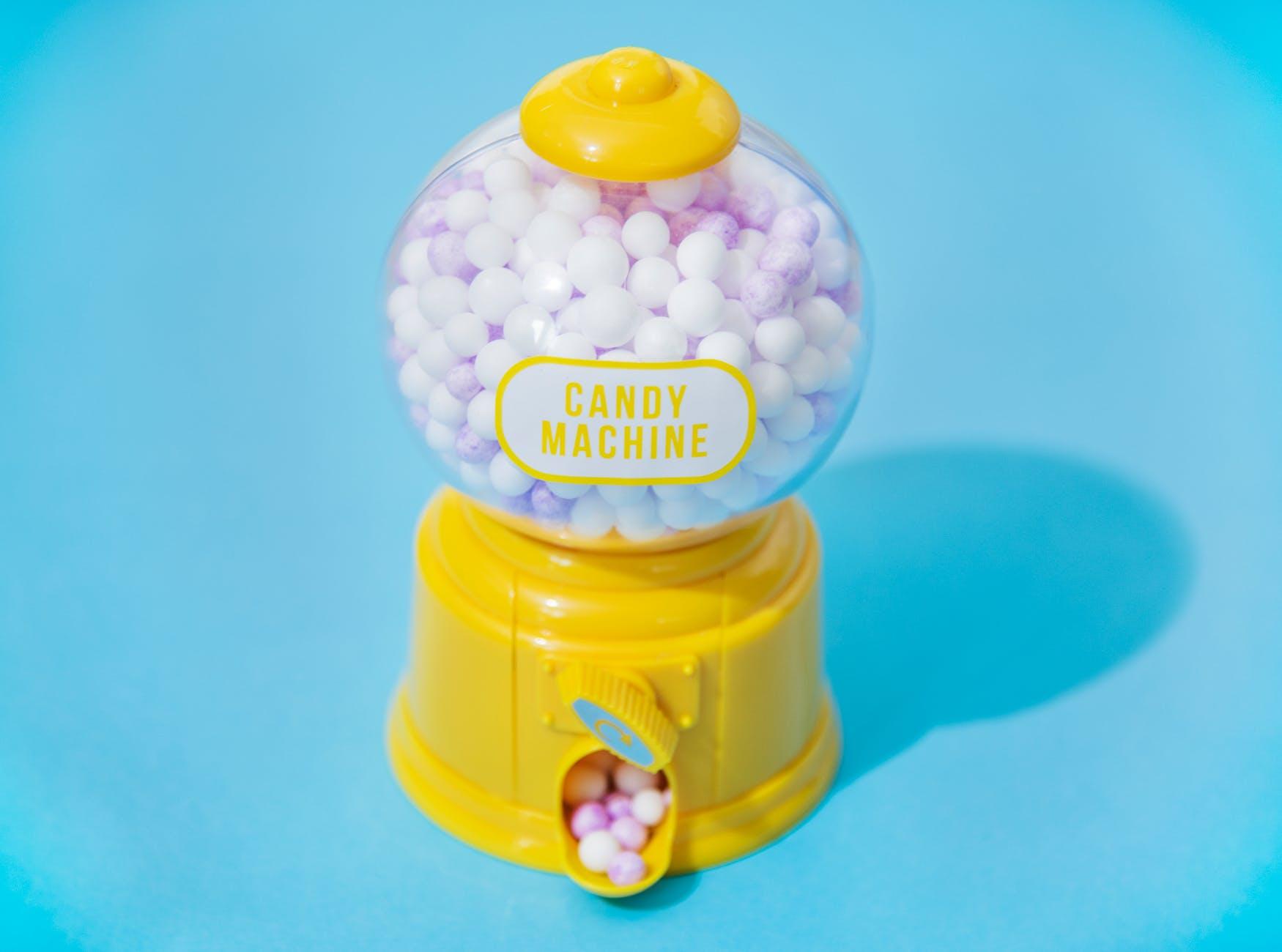 yellow candy machine